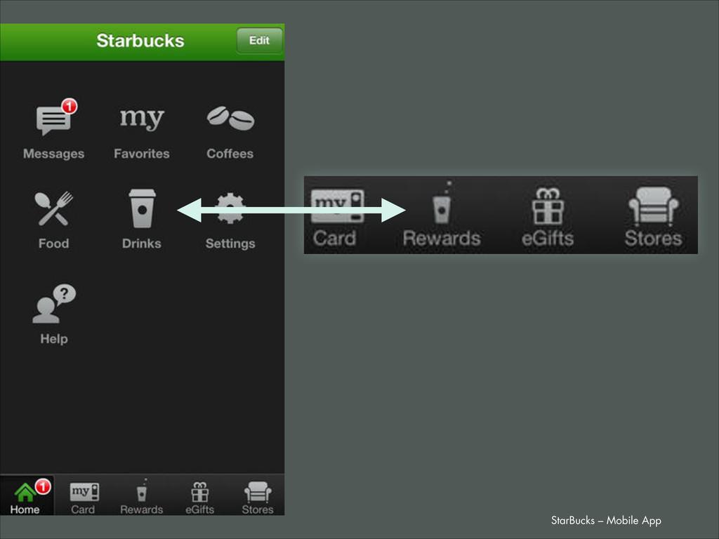 StarBucks – Mobile App