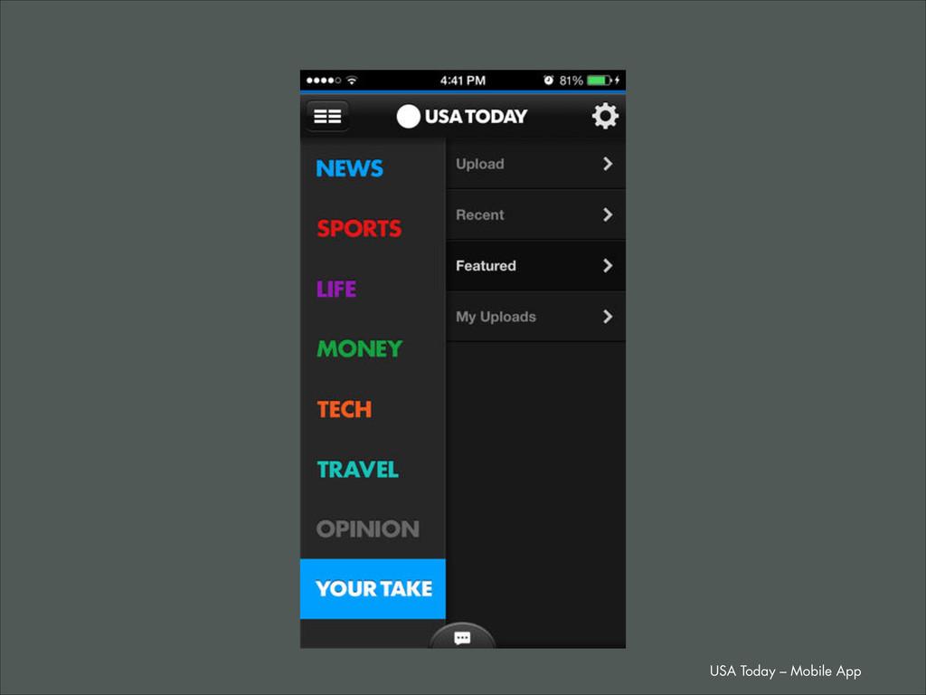 USA Today – Mobile App