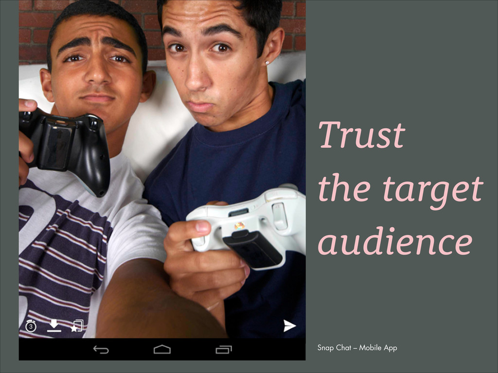 Snap Chat – Mobile App Trust the target audience