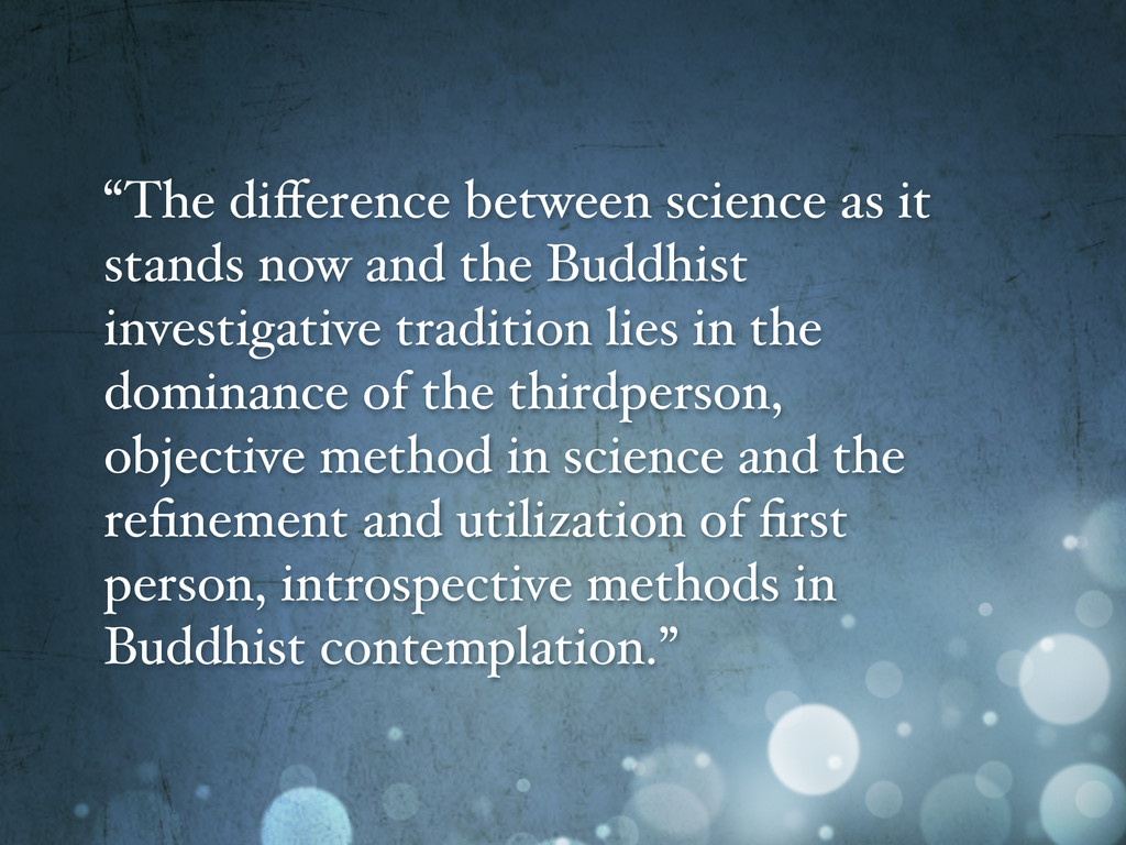 """""""The difference between science as it stands now..."""