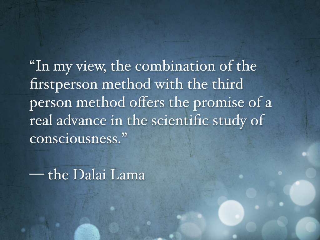 """""""In my view, the combination of the firstperson ..."""