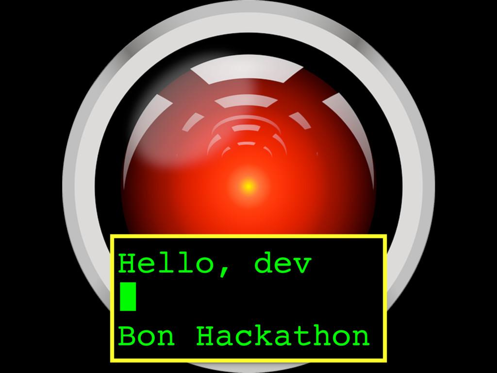 Hello, dev Bon Hackathon