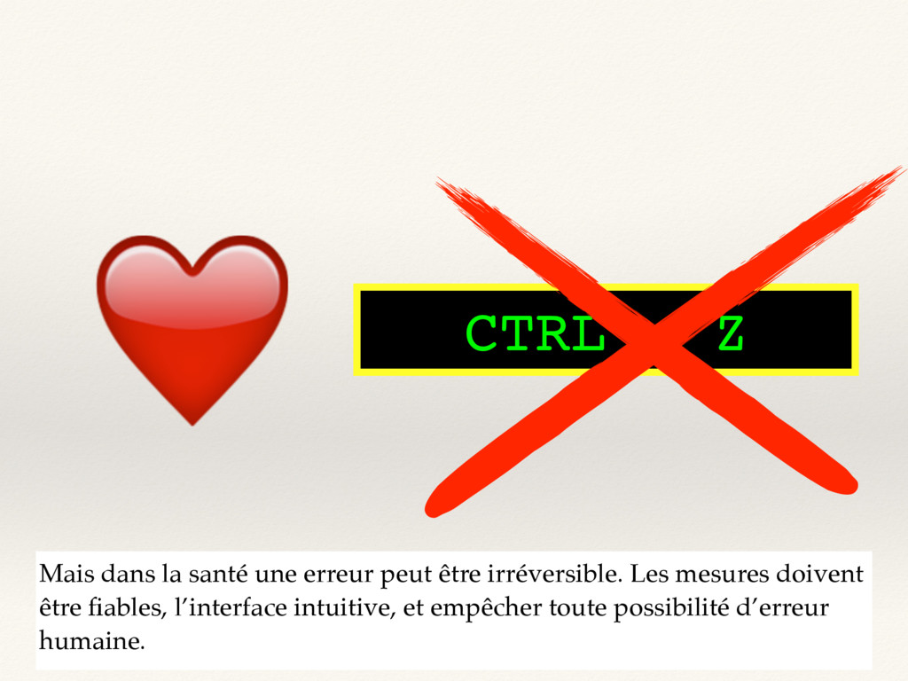 CTRL - Z ❤ Mais dans la santé une erreur peut ê...