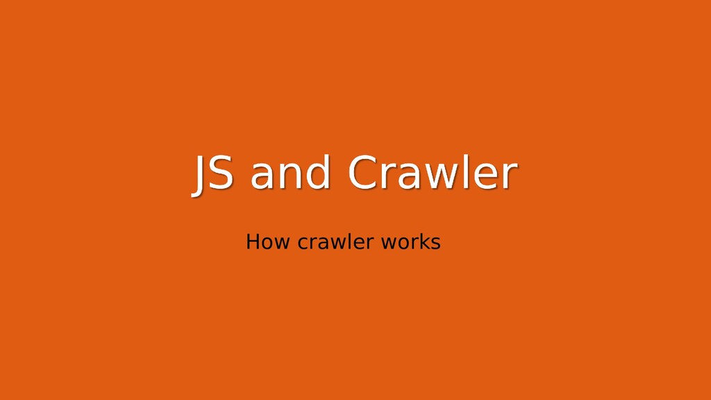 How crawler works