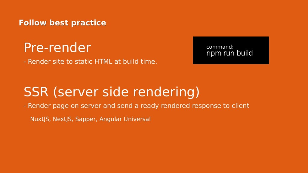 Pre-render - Render site to static HTML at buil...