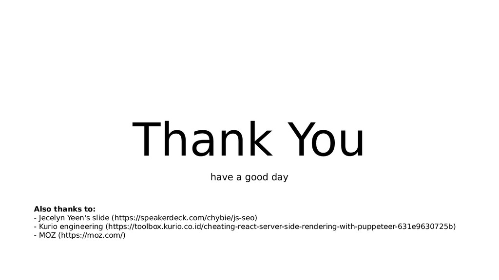 Thank You have a good day Also thanks to: - Jec...