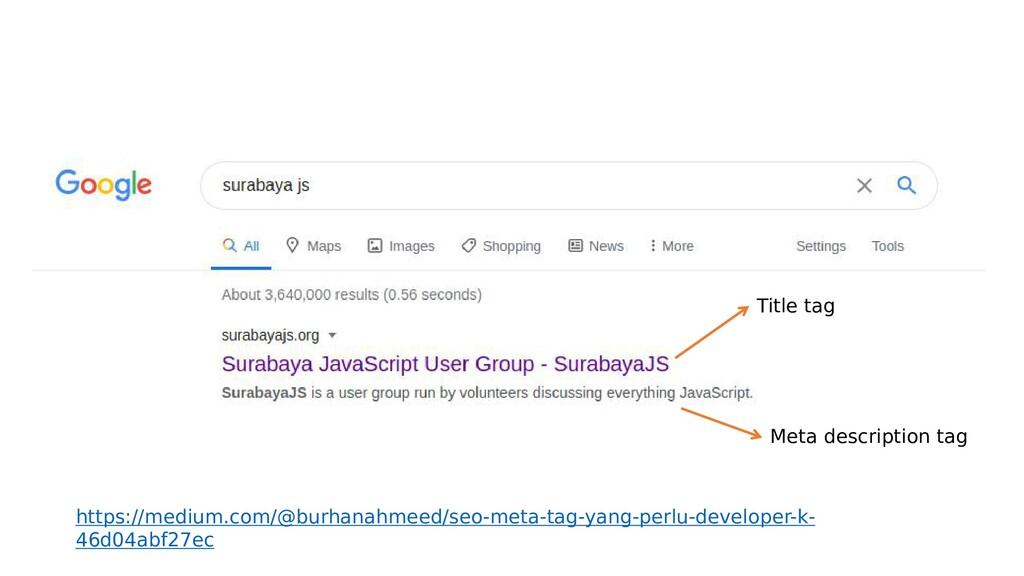Title tag Meta description tag https://medium.c...