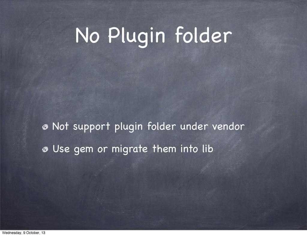 No Plugin folder Not support plugin folder unde...