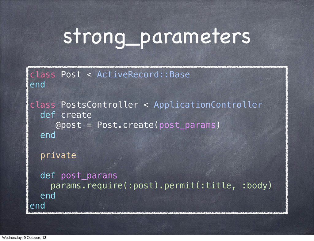 strong_parameters class Post < ActiveRecord::Ba...
