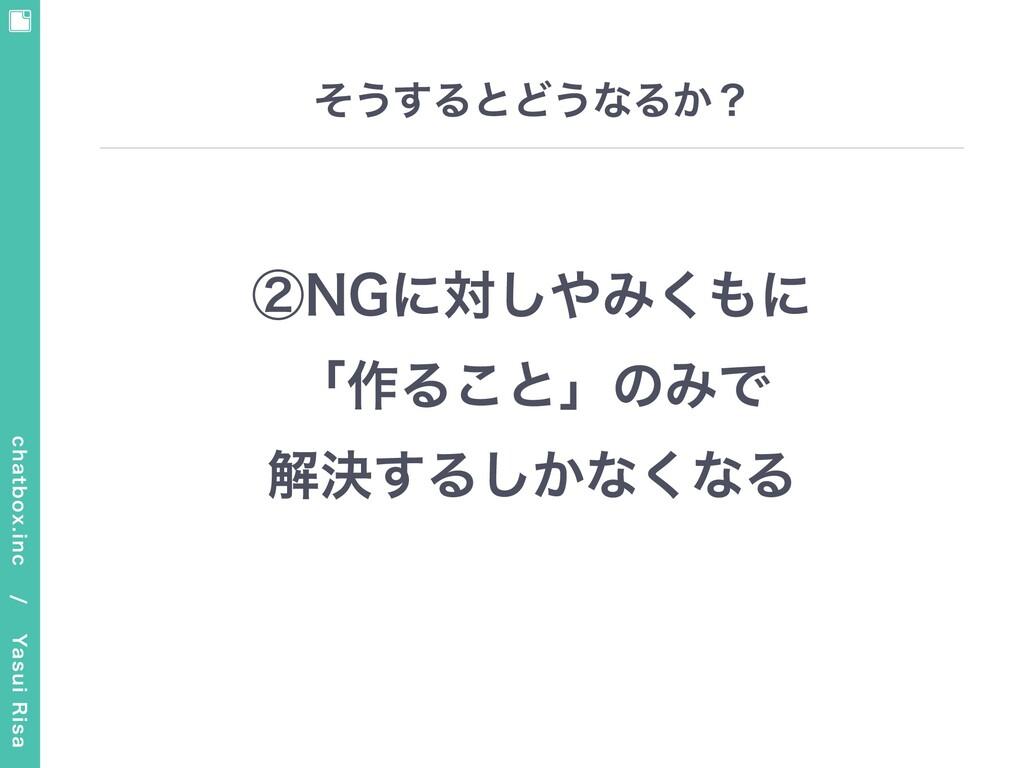 chatbox.inc / Yasui Risa そうするとどうなるか? ②NGに対しやみ...