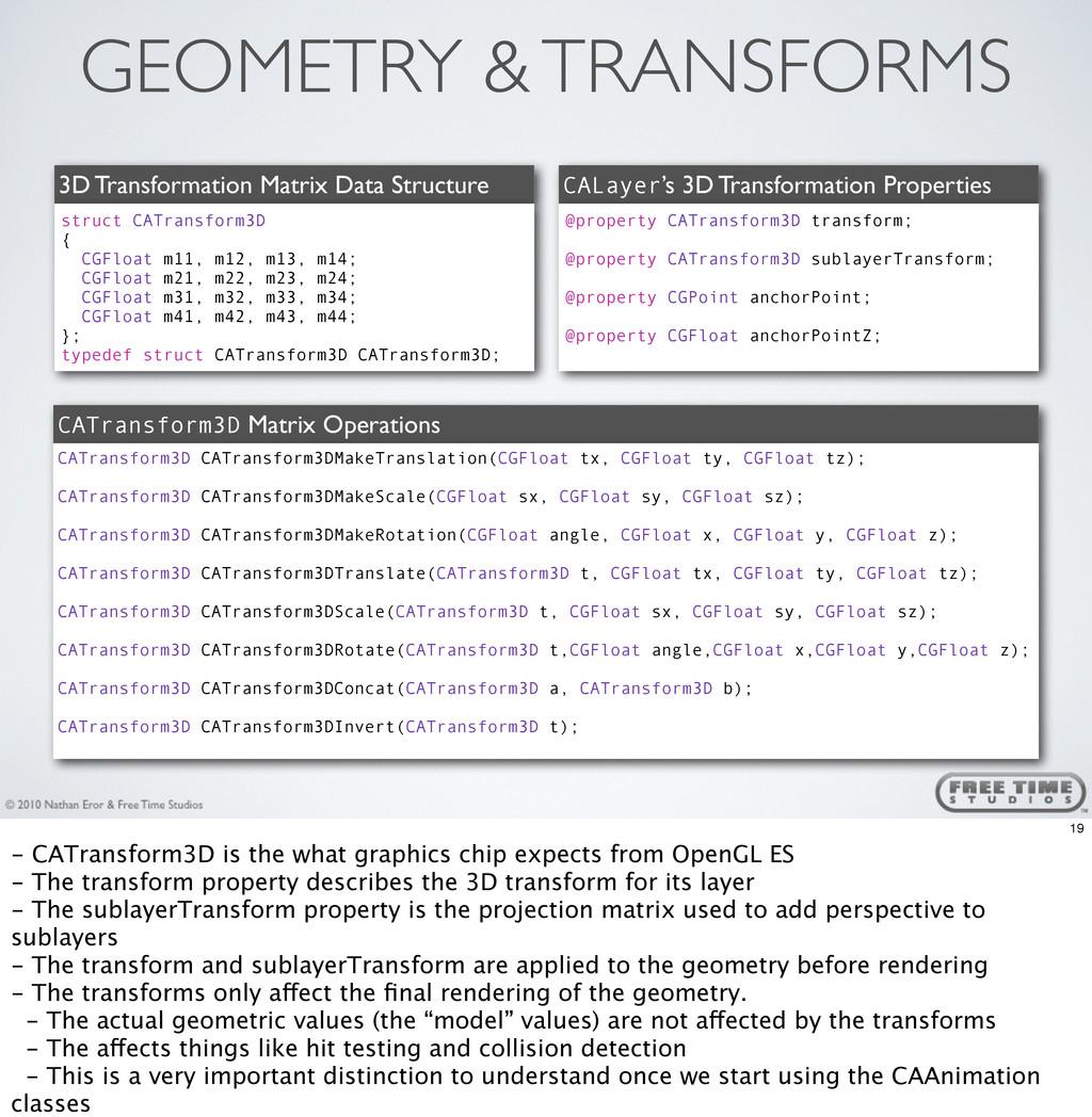 GEOMETRY & TRANSFORMS 3D Transformation Matrix ...