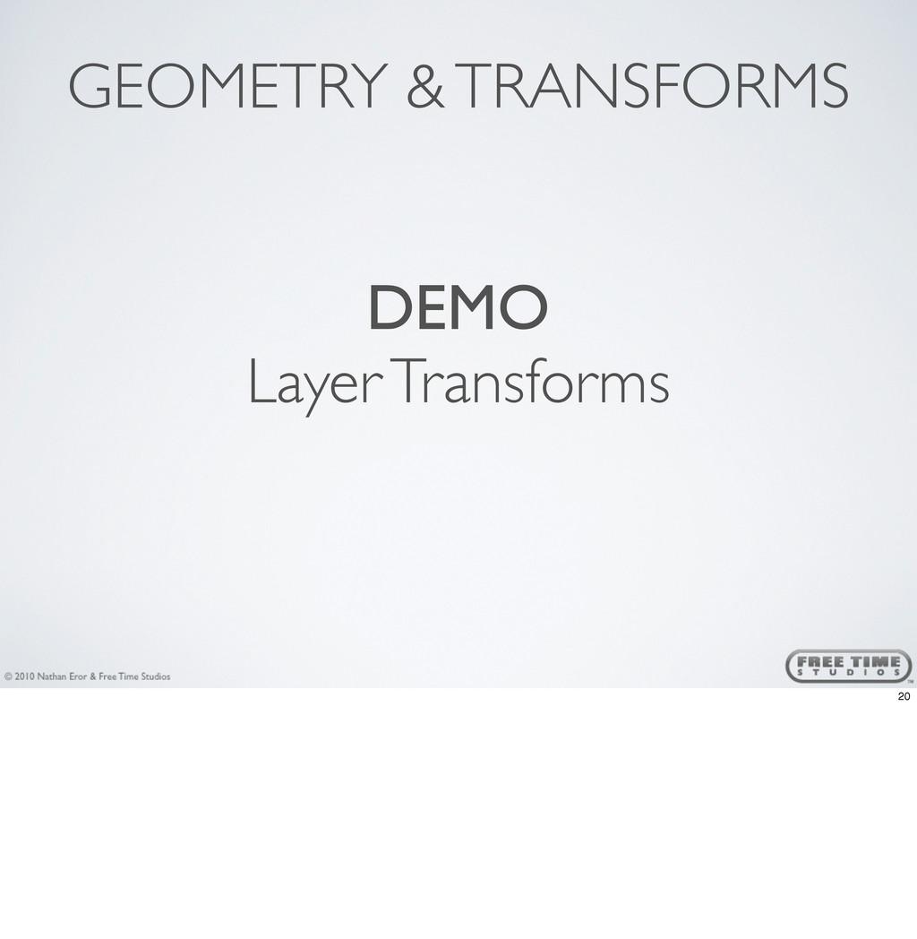 GEOMETRY & TRANSFORMS DEMO Layer Transforms 20