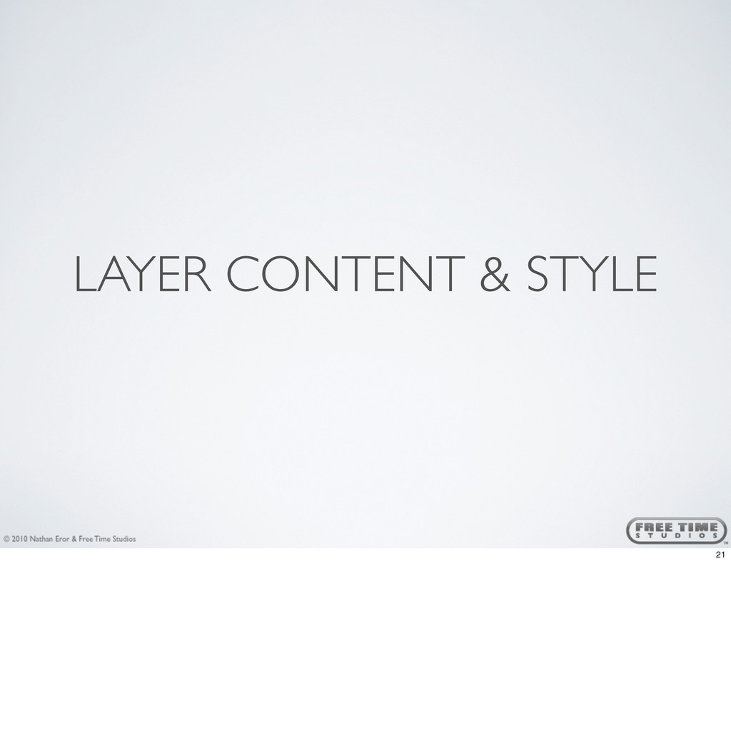 LAYER CONTENT & STYLE 21