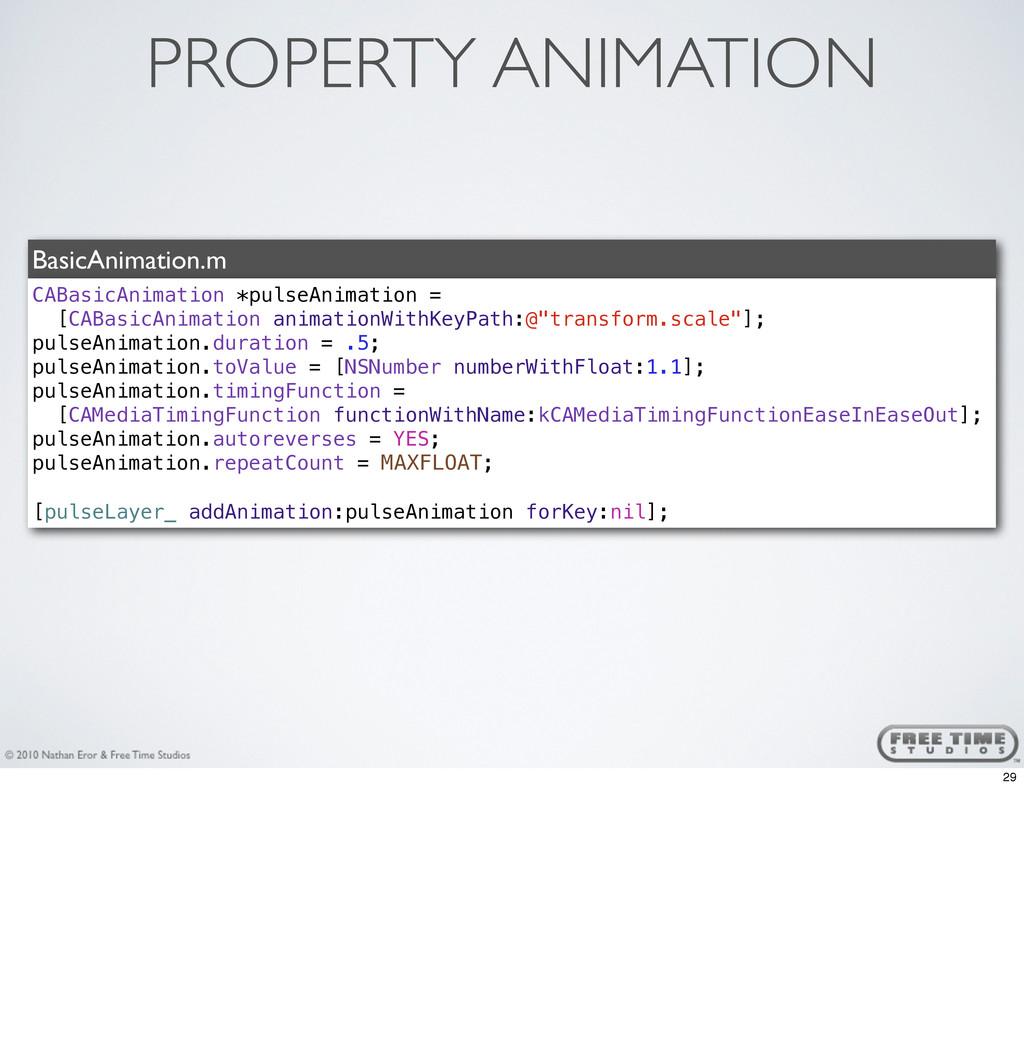 PROPERTY ANIMATION BasicAnimation.m CABasicAnim...