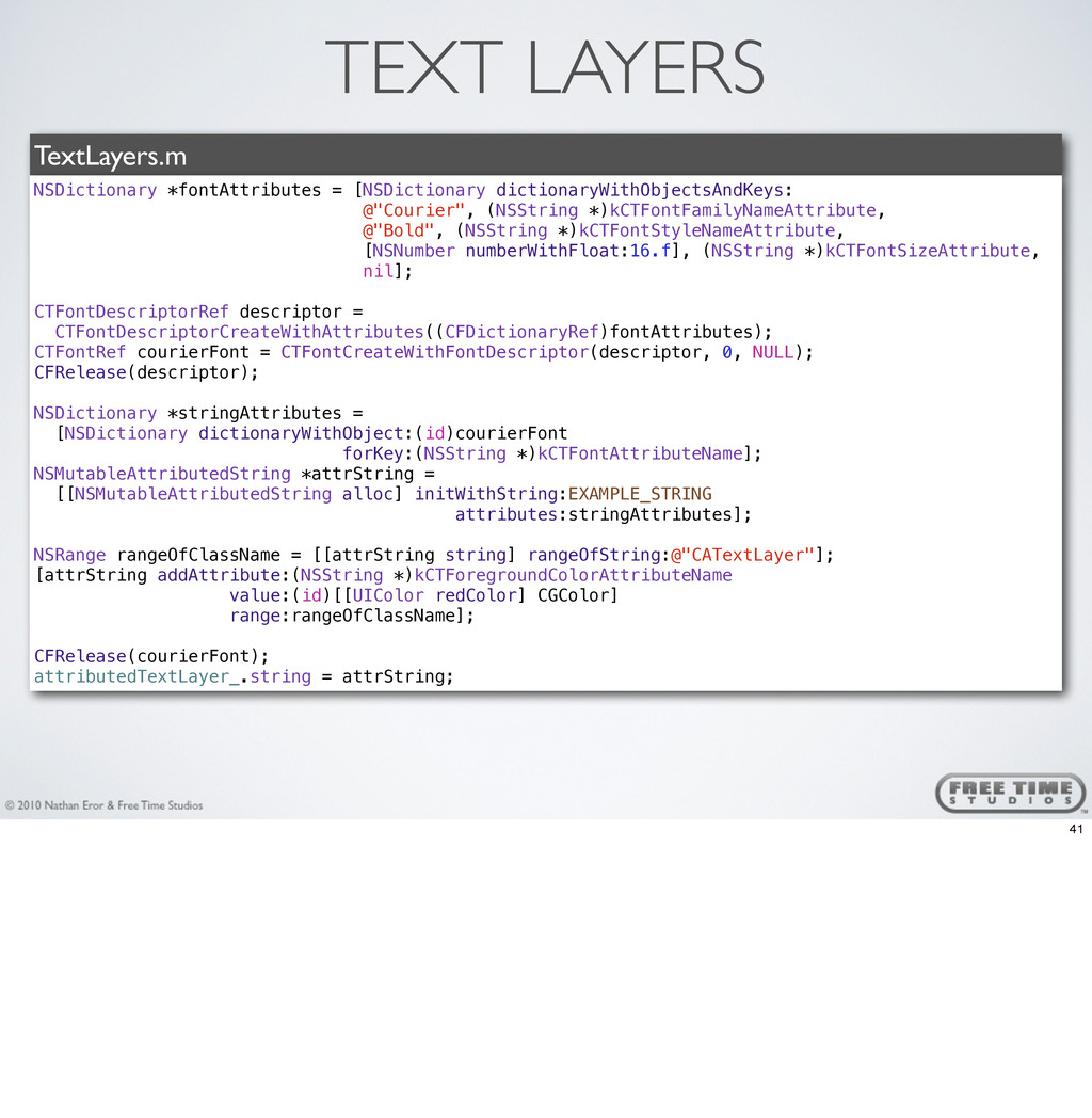 TEXT LAYERS TextLayers.m NSDictionary *fontAttr...