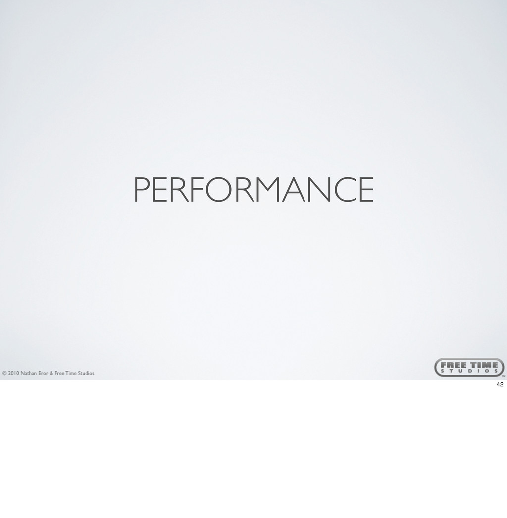 PERFORMANCE 42