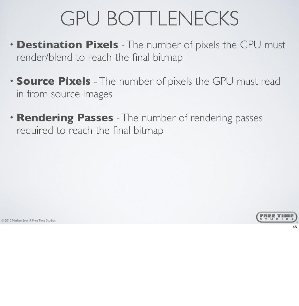 GPU BOTTLENECKS • Destination Pixels - The numb...
