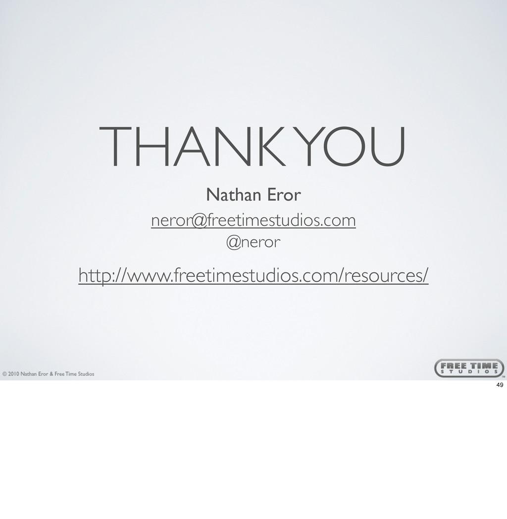 THANK YOU Nathan Eror neror@freetimestudios.com...