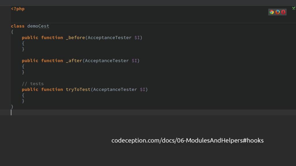 EMPTY CEST $ codeception.com/docs/06-ModulesAnd...