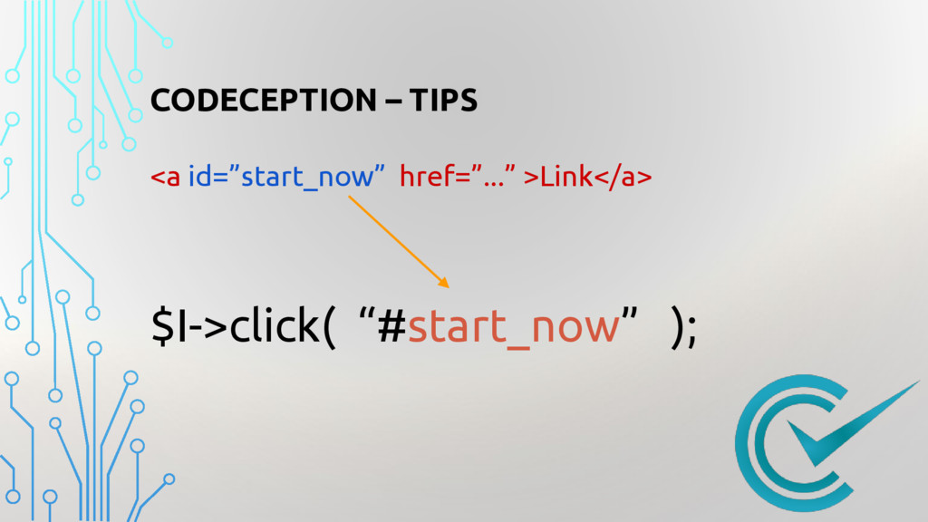 """CODECEPTION – TIPS <a id=""""start_now"""" href=""""...""""..."""