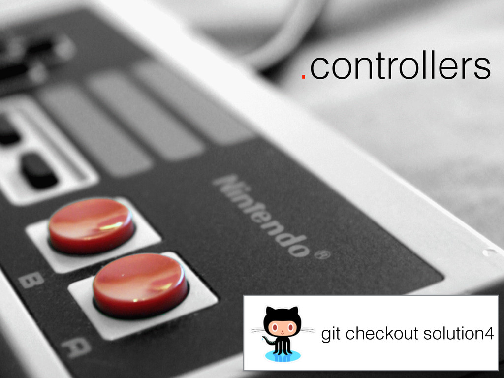 .controllers git checkout solution4