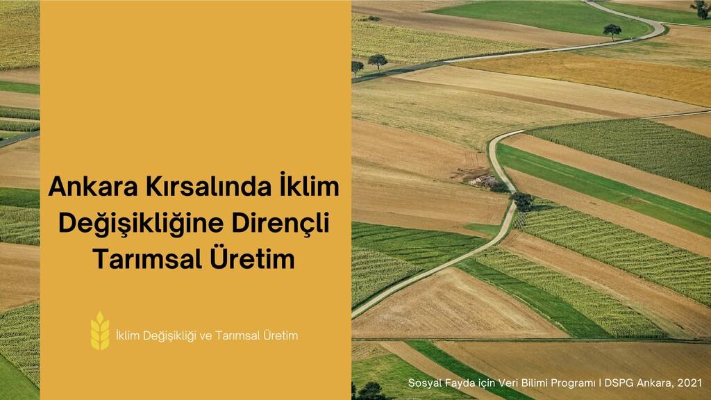 Ankara Kırsalında İkl m Değ ş kl ğ ne D rençl T...