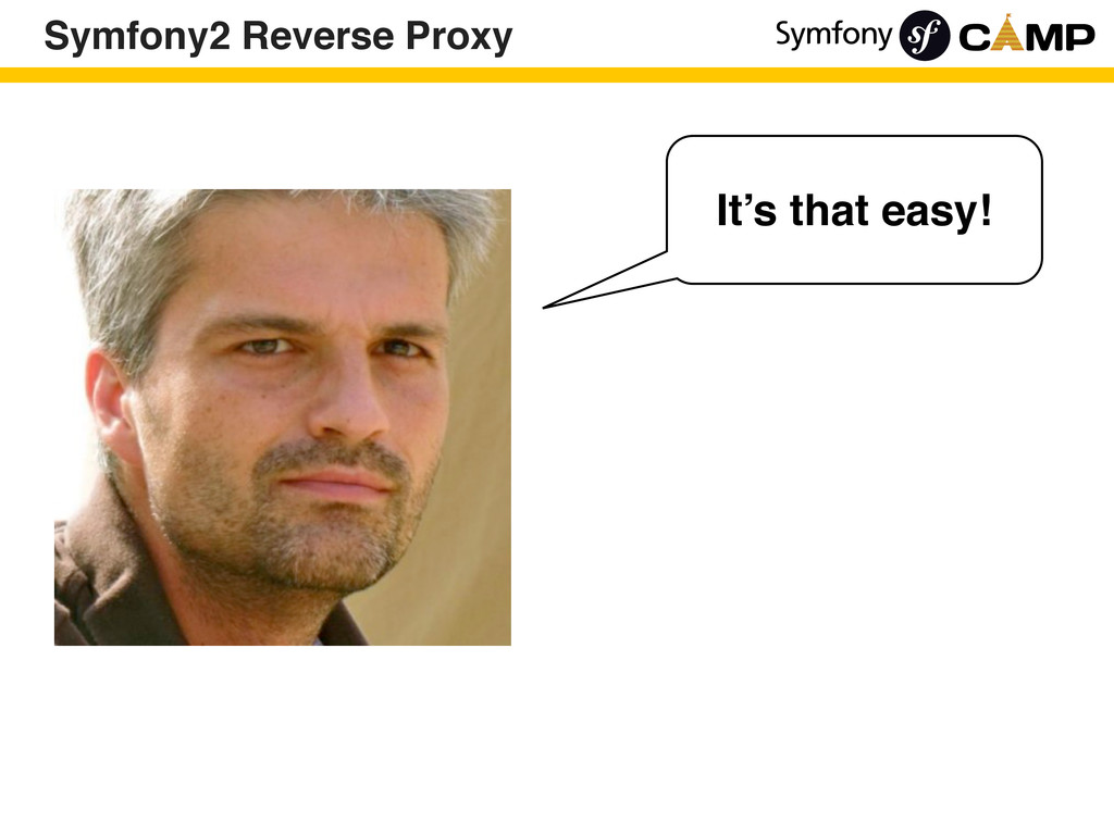 Symfony2 Reverse Proxy It's that easy!
