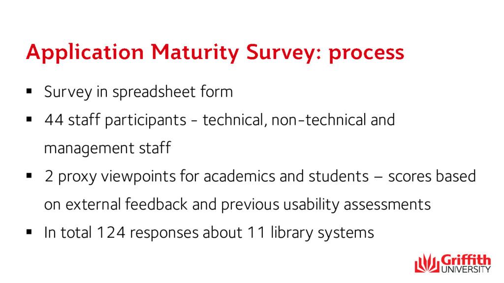  Survey in spreadsheet form  44 staff partici...