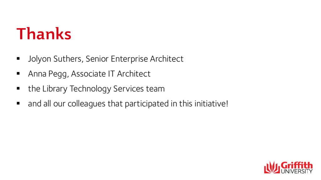  Jolyon Suthers, Senior Enterprise Architect ...
