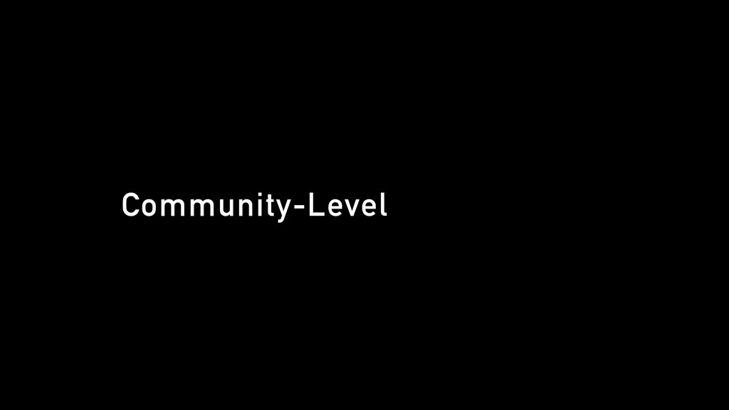 Community-Level