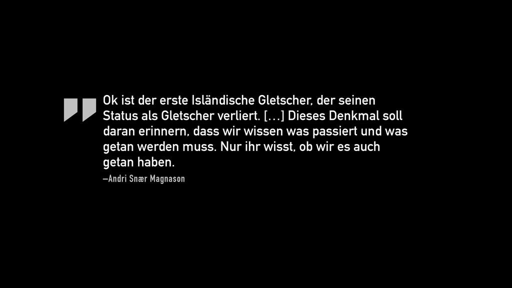 """ –Andri Snær Magnason Ok ist der erste Isländi..."