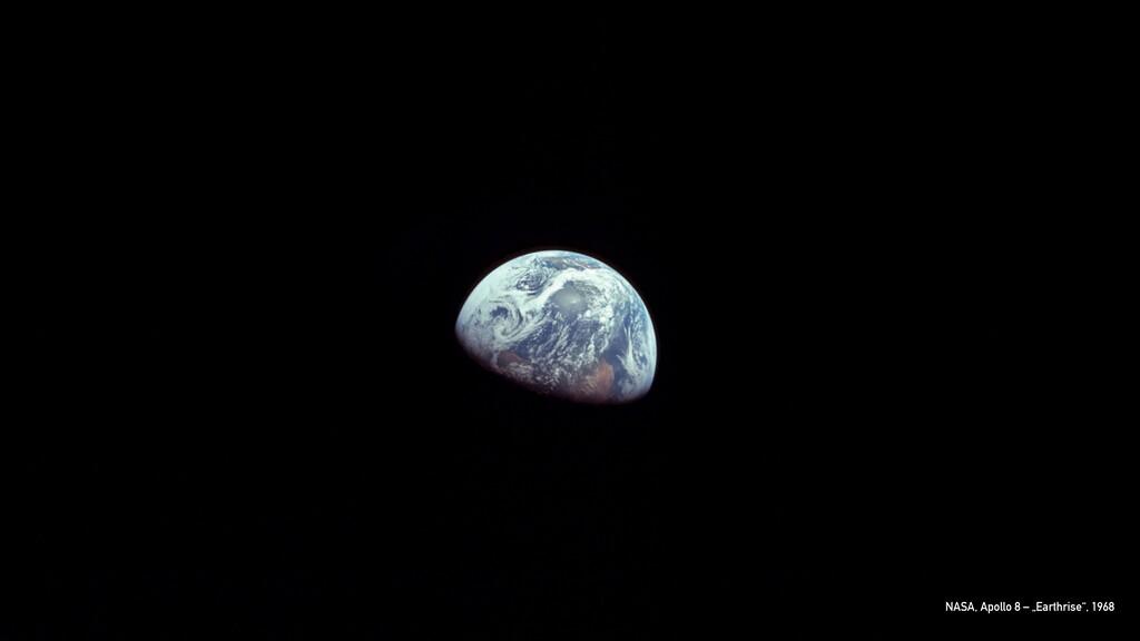 """NASA, Apollo 8 – """"Earthrise"""", 1968"""