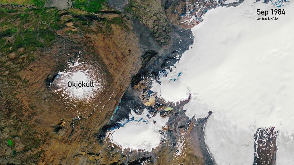Sep 1984 Okjökull Landsat 5, NASA