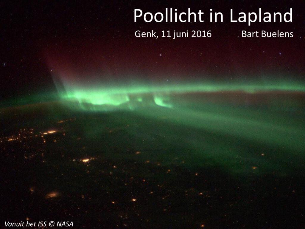 Vanuit het ISS © NASA Poollicht in Lapland Genk...