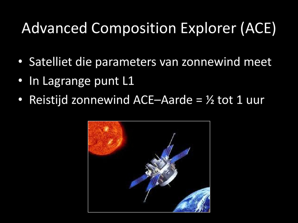 Advanced Composition Explorer (ACE) • Satelliet...