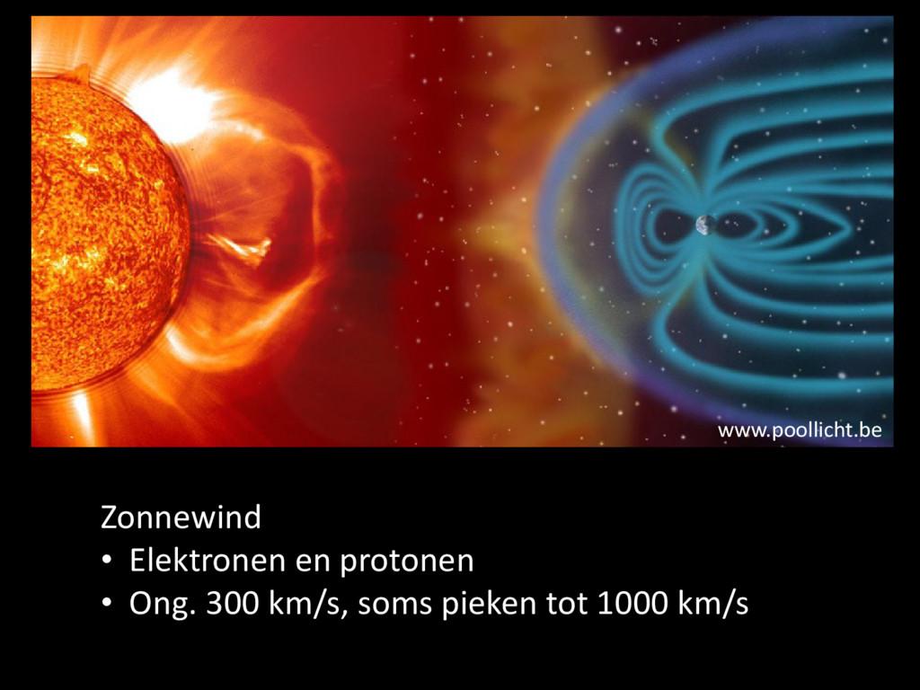 www.poollicht.be Zonnewind • Elektronen en prot...