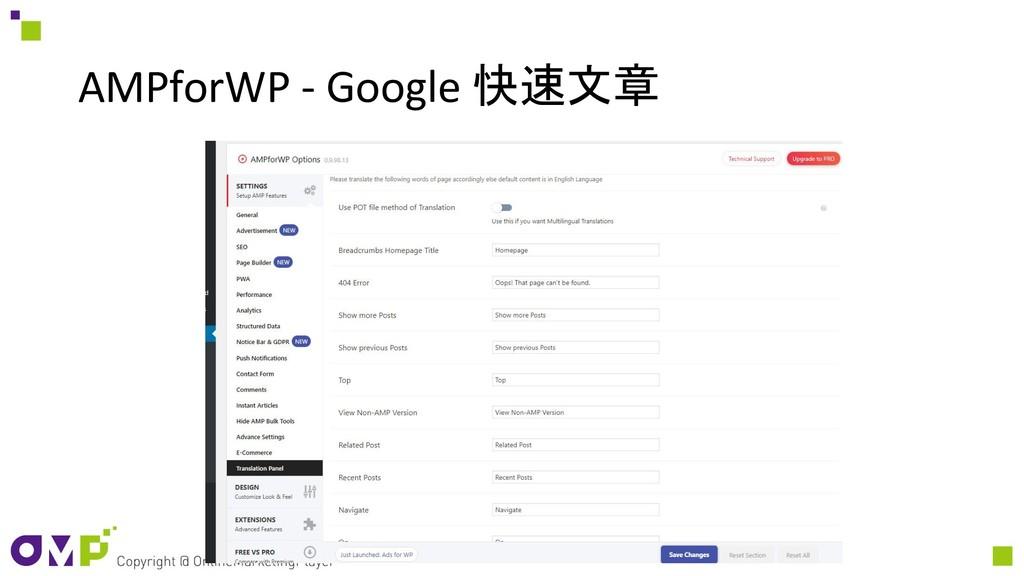 AMPforWP - Google 快速文章