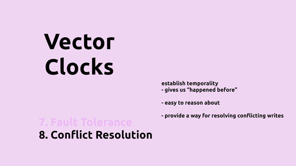 7. Fault Tolerance 8. Con!ict Resolution Vector...