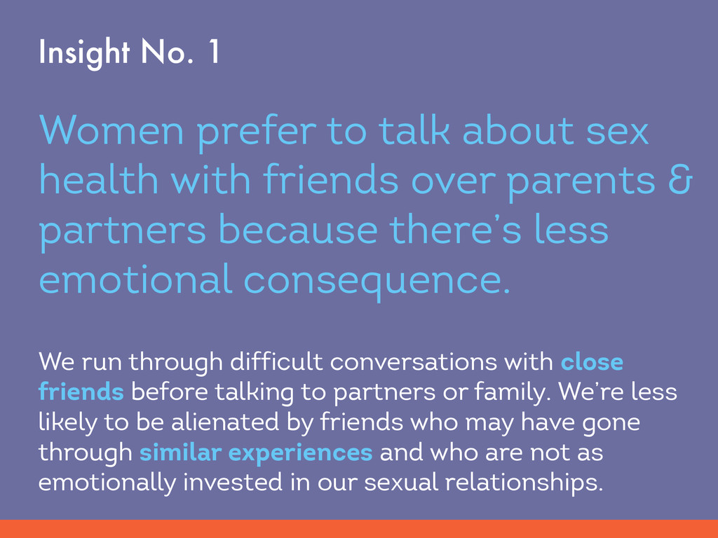 Women prefer to talk about sex health with frie...