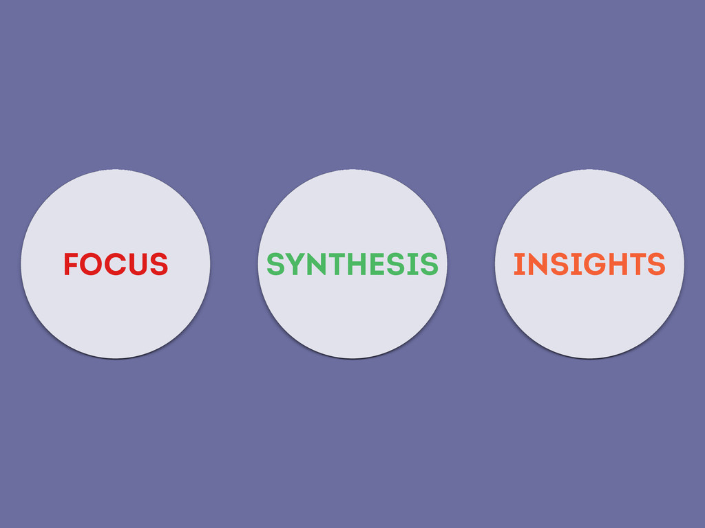 FOCUS SYNTHESIS INSIGHTS