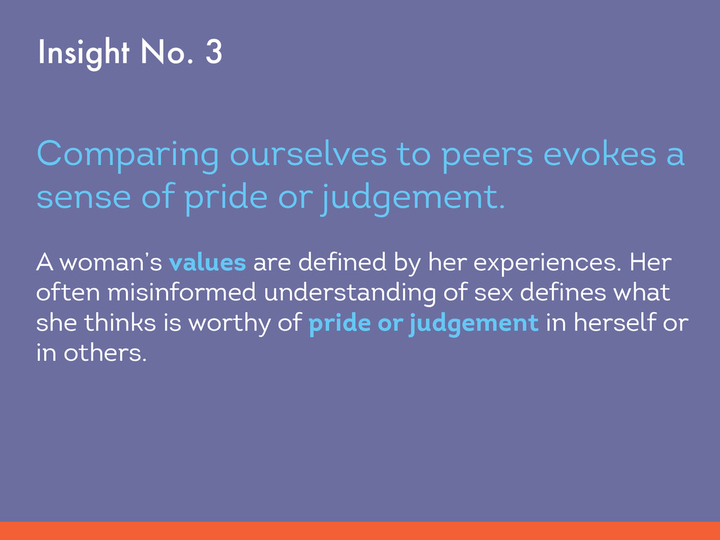 Comparing ourselves to peers evokes a sense of ...
