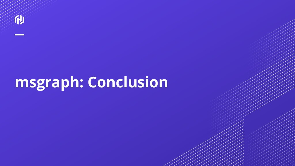 msgraph: Conclusion