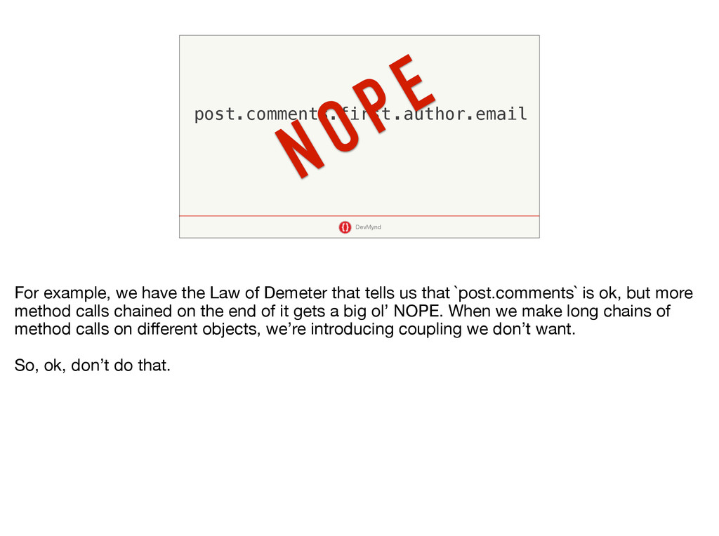 DevMynd post.comments.first.author.email NOPE F...
