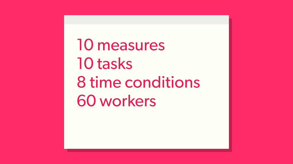 10 measures 10 tasks 8 time conditions 60 worke...