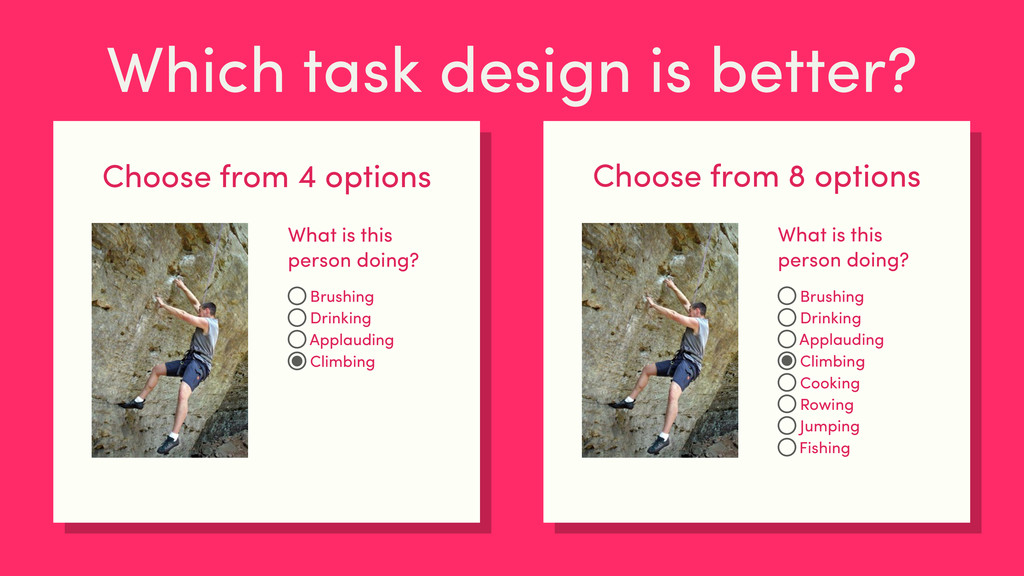 Which task design is better? Choose from 4 opti...