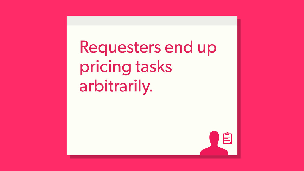 Requesters end up pricing tasks arbitrarily.