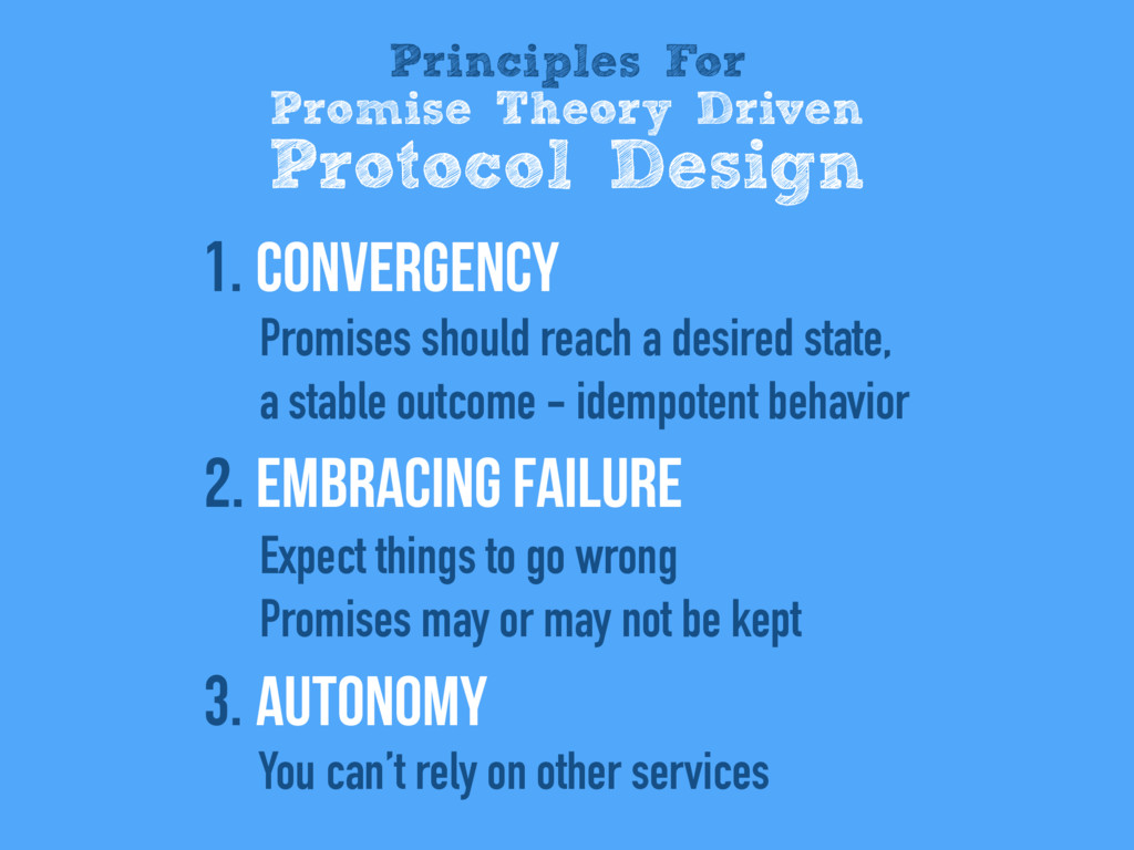 1. Convergency Promises should reach a desired ...