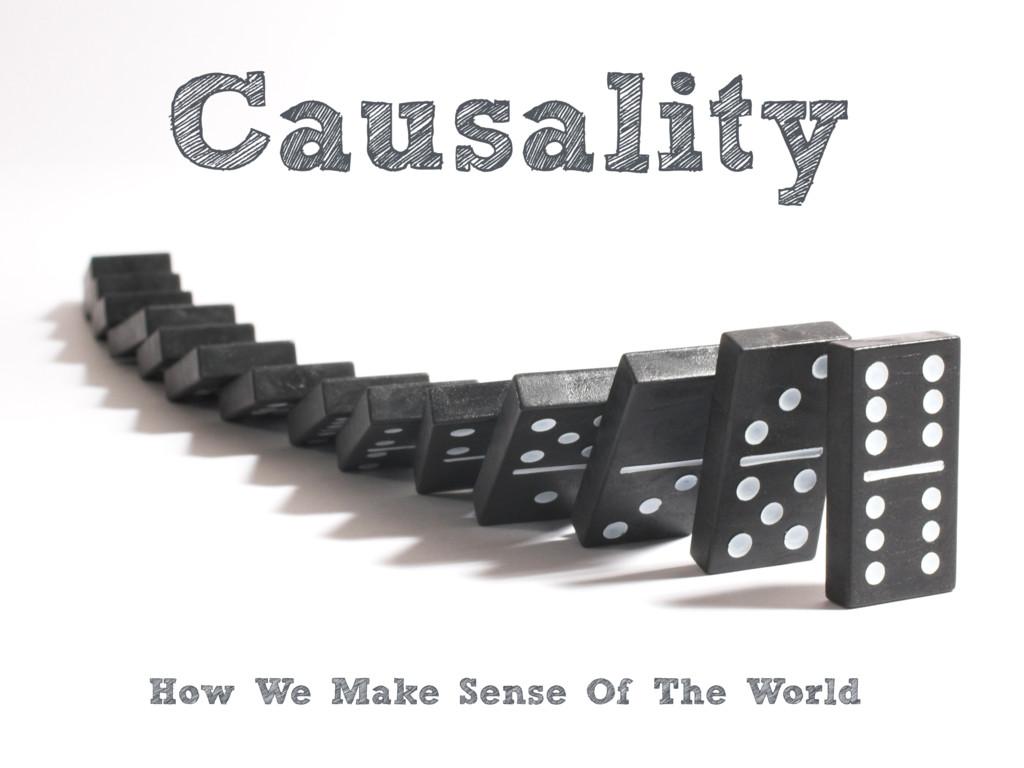 Causality How We Make Sense Of The World