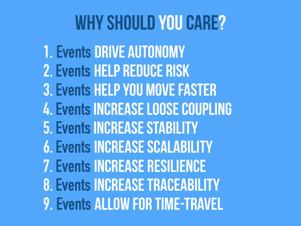 1. Events drive autonomy 2. Events help reduce ...