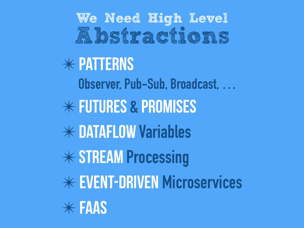 ✴ Patterns Observer, Pub-Sub, Broadcast, … ✴ Fu...